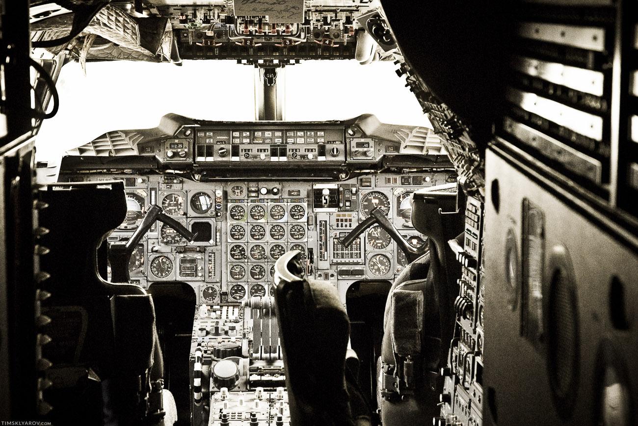 Рабочее место пилотов.