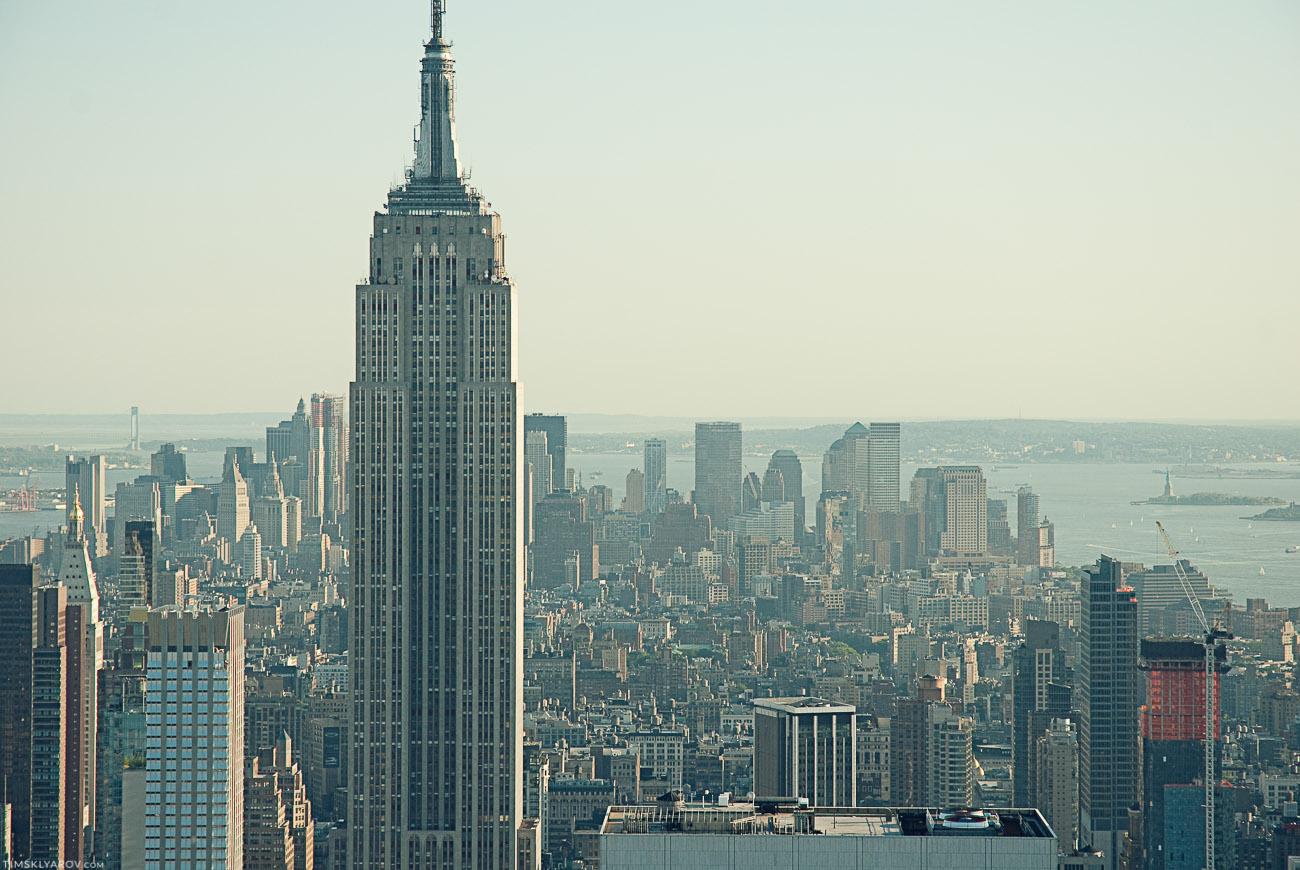 Empire State, цуко, высокий. Но, на мой взгляд, не красивый. Chrysler Building круче :)