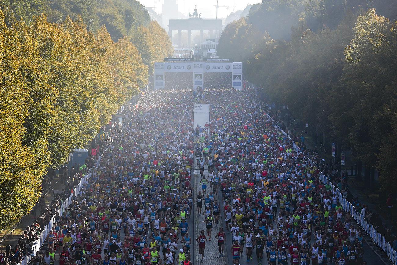 Старт марафона в Берлине